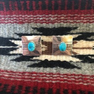 Jewelry - Native American Turquoise Earrings by Nez